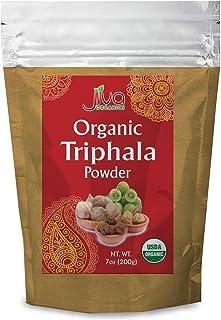 Jiva Organics Organic Triphala Powder 7 Ounce Bag - Ground Amla, Bhibitaki, and Haritaki Fruits Blended, 100% Natural & No...