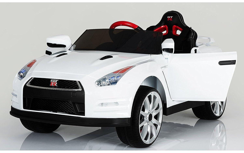 乗用ラジコン NISSAN GT-R R35 日産 GT-R R35 品のハイクオリティ ペダルとプロポで操作可能な電動ラジコンカー 乗用玩具 子供が乗れるラジコンカー (ホワイト)