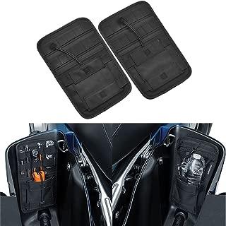 YHMTIVTU Universial Saddlebag Organizer Hard Bags Internal Storage Bag for Harley Touring Road Glide 2008-2018,Black