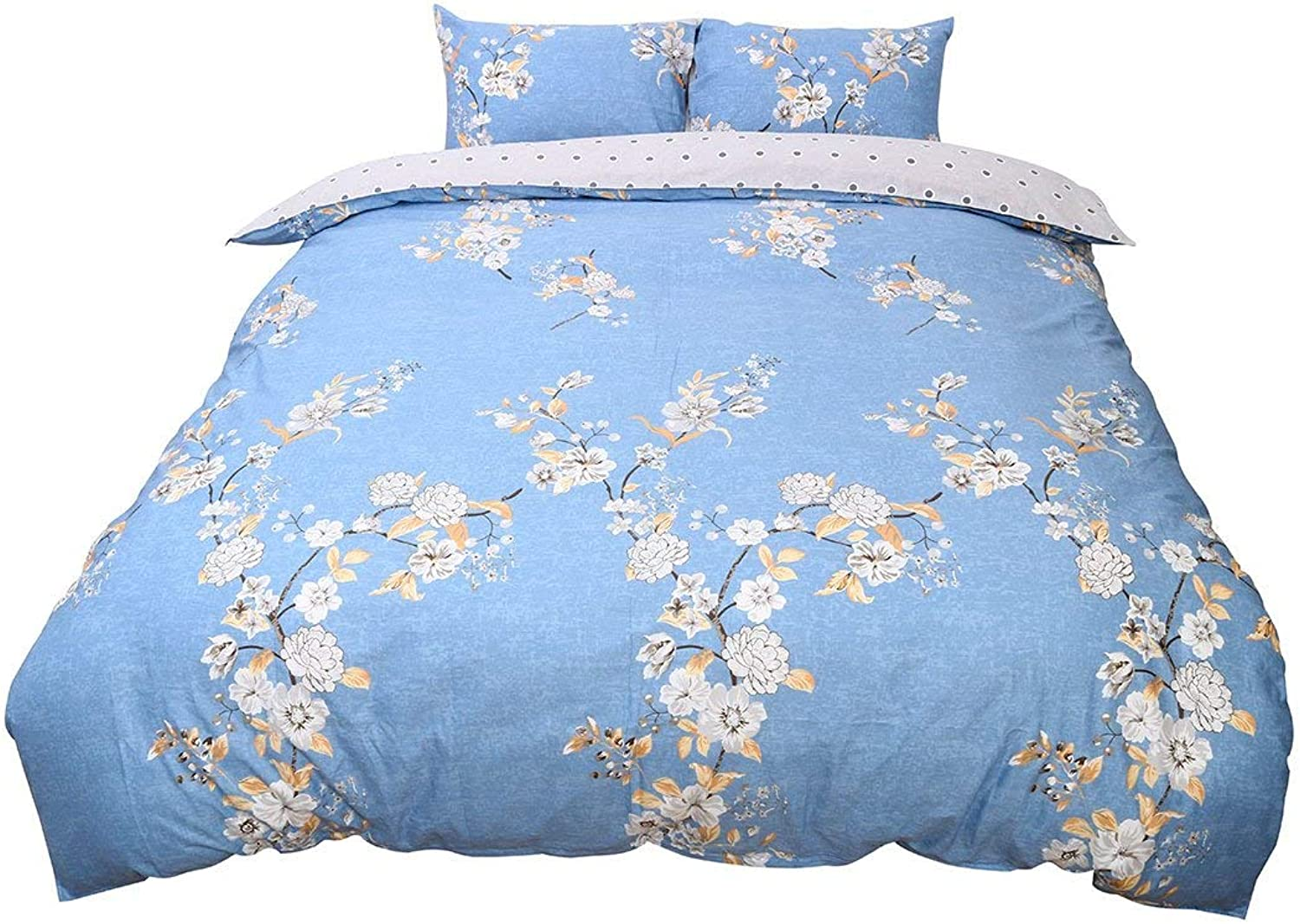 Twin Size, Flower 4   100% Cotton Duvet Cover Set-3 Piece high qualitly Duvet Covers and Pillowcases Bedding Sets(Twin Size, Flower 4)
