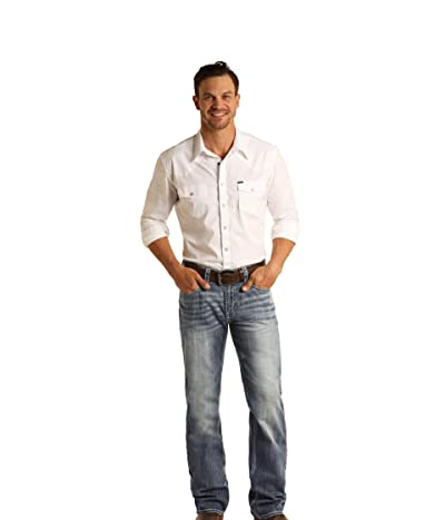 Rock and Roll Cowboy Reflex Double Barrel Relax Fit Straight in Medium Vintage M0S5805 (Medium Vintage) Men