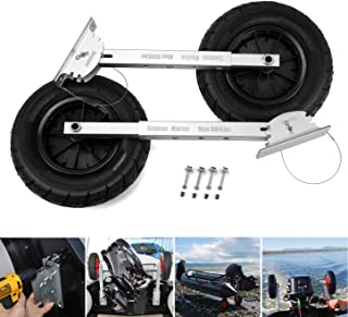 SEAMAX Deluxe 4 by 4 Boat Launching Wheels System for Zodiac Type Inflatable Boats and Aluminum Boats