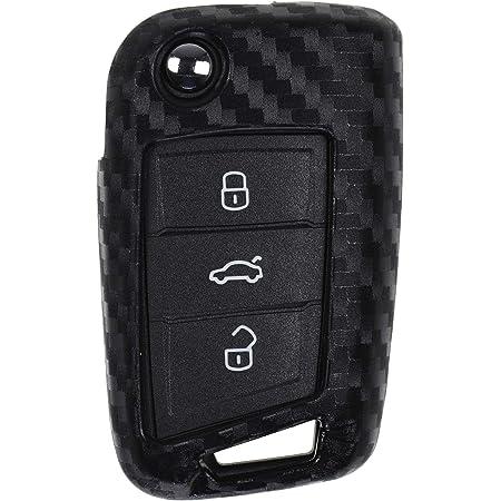Carbon Soft Case Schutz Hülle Auto Klapp Schlüssel Für Elektronik