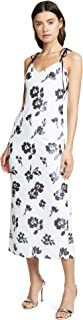 Self Portrait Women's Sleeveless Floral Sequin Midi Dress