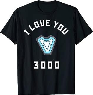Avengers Endgame Iron Man I Love You 3000 Arc Reactor T-Shirt