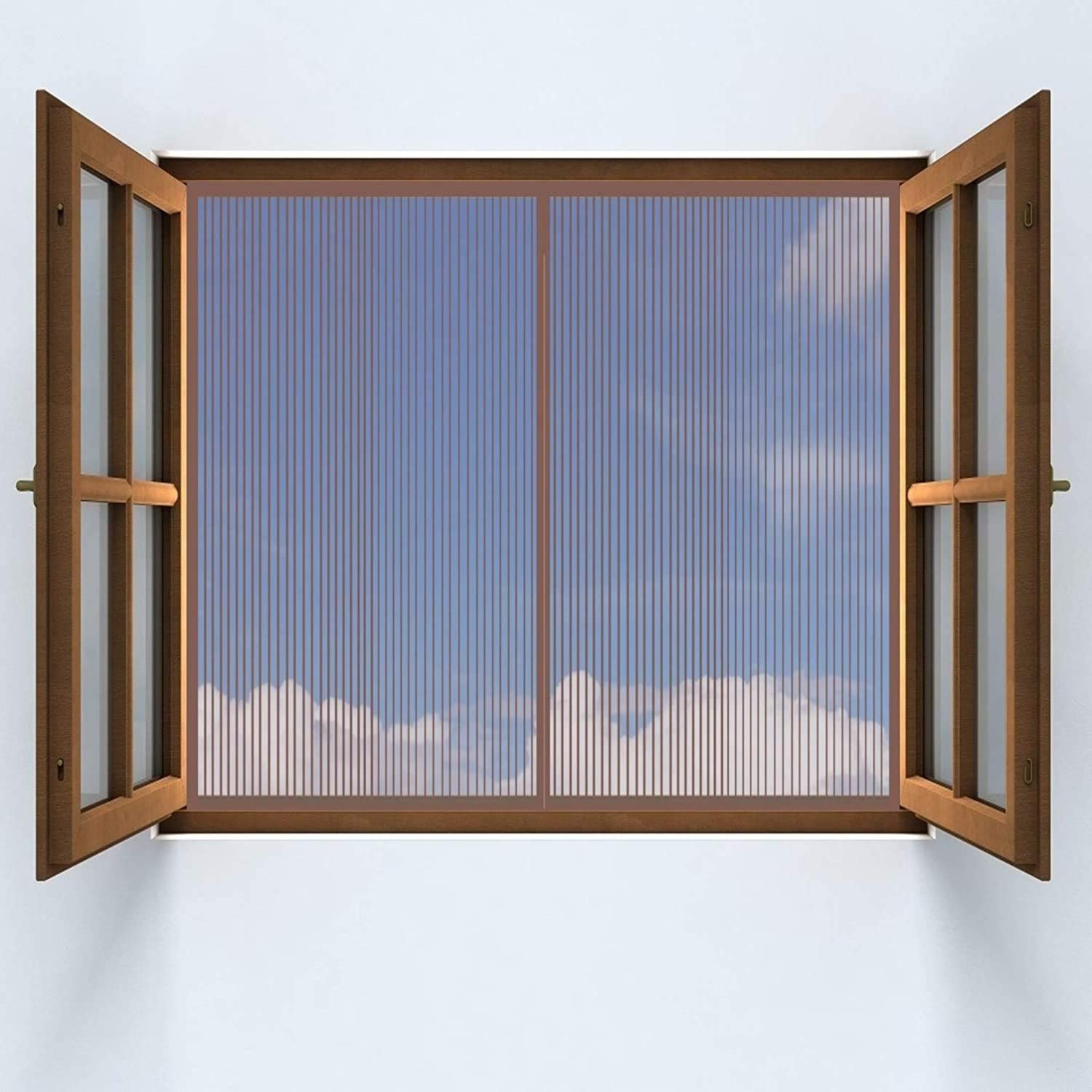 HAODELE Window Screen Bombing new work 75x120cm Closing Magnets Curtains Fees free!! Paste Su