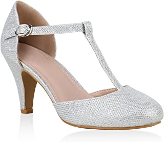 Stiefelparadies Damen Pumps Mary Janes Hochzeit Abiball Flandell