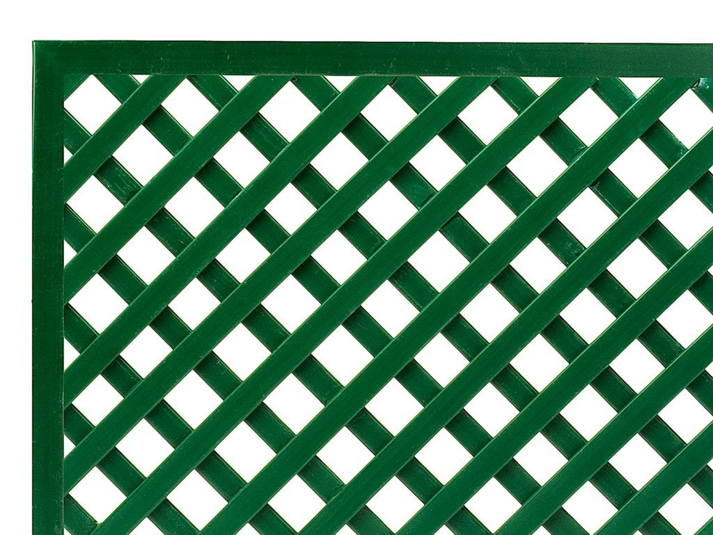 Garbric - Panel celosia Fija con Marco PVC 1x2 Verde: Amazon.es: Jardín