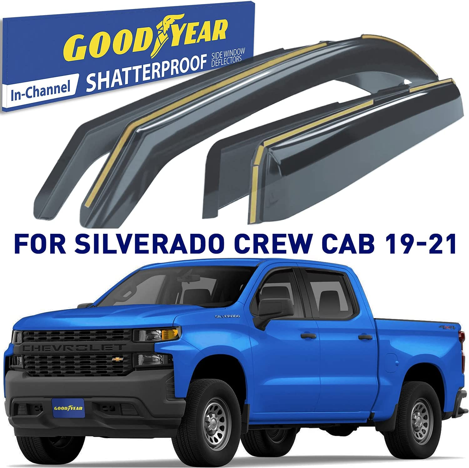 Goodyear Shatterproof in-Channel Ranking integrated 1st place Window for Ch Max 77% OFF Trucks Deflectors