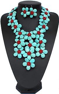 Collana con collana turchese,  Collana e orecchini Collana di Gioielli Regalo di Nozze Donne Ragazze Regalo di San Valentino