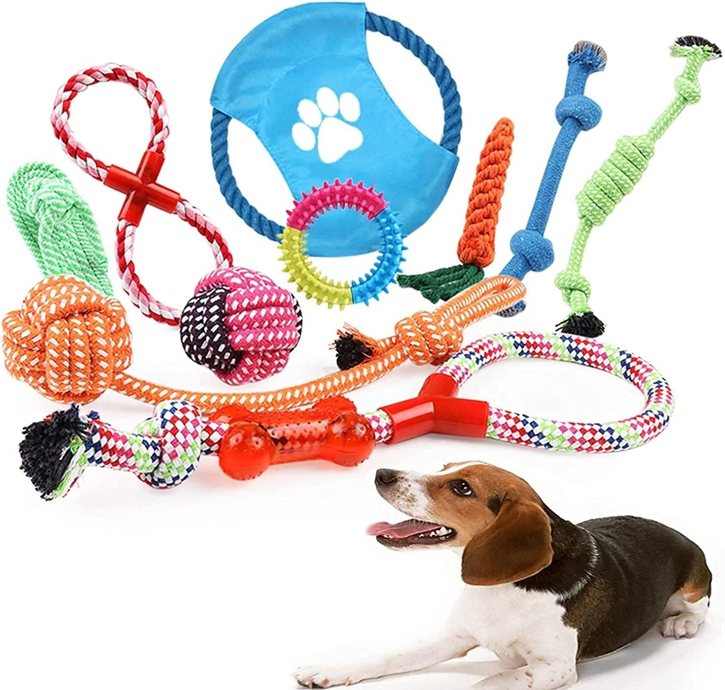 GLLP Dog Rope Toys Set 10 Includin Pieces Pet 67% OFF of fixed price Fees free Chew of