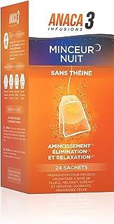 Anaca3 – Infusion Minceur Nuit – Relaxant (2) & Amincissant (1) – 100% Naturel – Mélisse, sureau, verveine et tilleul, ar...