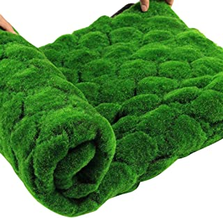 Heptern Christmas Artificial Moss Grass Simulation Lawn Mat Straw Fake Green Lawn Carpet Fake Turf for Home Garden Yard Floor Indoor & Outdoor DIY Wedding Holiday Decoration