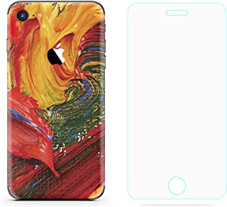 Lee&Van Creative Color Ultra-thin Sticker iPhone Case, Emboss Texture Cover Case Wrap for iPhone, Instead Of Similar Phone Shell Case In The Market,Including Glass Screen Protector.(iPhone 6/6S)