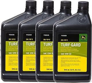John Deere Original Equipment TURF-GARD 32 oz. 10W-30 Oil #TY22029 (PACK OF 4)