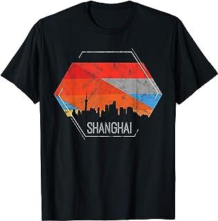 Shanghai Chine Cadeau Vintage Vacances de voyage en Chine T-Shirt