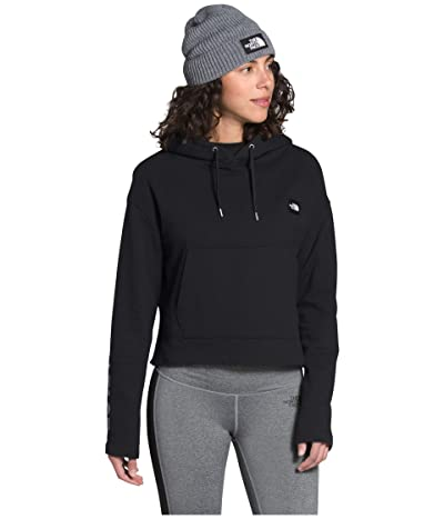 The North Face Logo Crop French Terry Pullover Hoodie