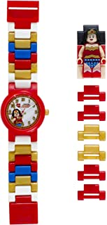 LEGO DC Comics 8020271 Super Heroes Wonder Woman Kids Minifigure Link Buildable Watch | blue/red | plastic | 25mm case diameter | analogue quartz | boy girl | official