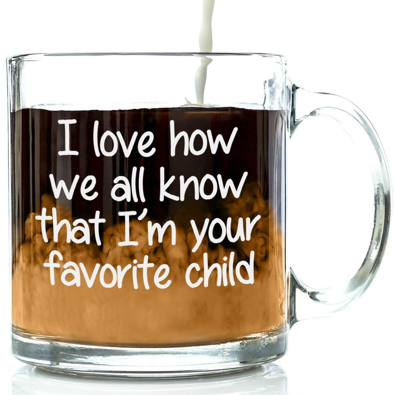 Iu0027m Your Favorite Child Funny Glass Coffee Mug - Christmas Gifts For Mom or  sc 1 st  Amazon.com & Best Christmas Gift for Mom: Amazon.com