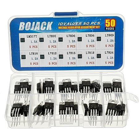 BOJACK BJ-VR10 Reguladores de voltaje de alta corriente positivos con 10 valores, 50 piezas