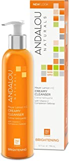 Andalou Naturals Creamy Meyer Lemon Cleanser with Vitamin C, 6 Ounces