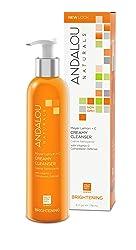 Andalou Naturals Meyer Creamy Lemon Cleanser, 6 oz, Helps Clean, Purify, Brighten & Even Skin Tone,