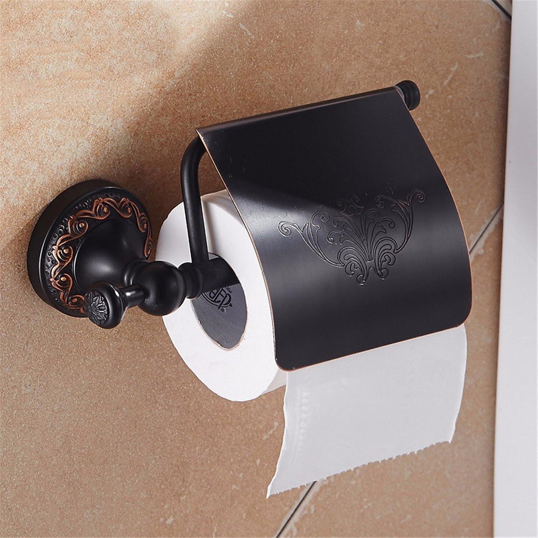 comprar descuentos LOSTRYY Antiguo Cobre Porta Papel higiénico Portarrollos Portarrollos Portarrollos Negro  más orden