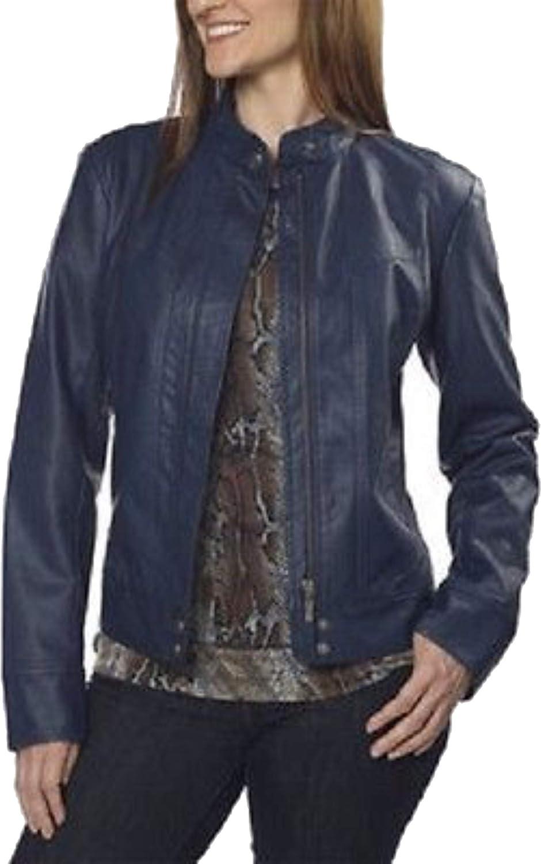 Bernardo Ladies' Fashion Jacket  Dark Cobalt bluee