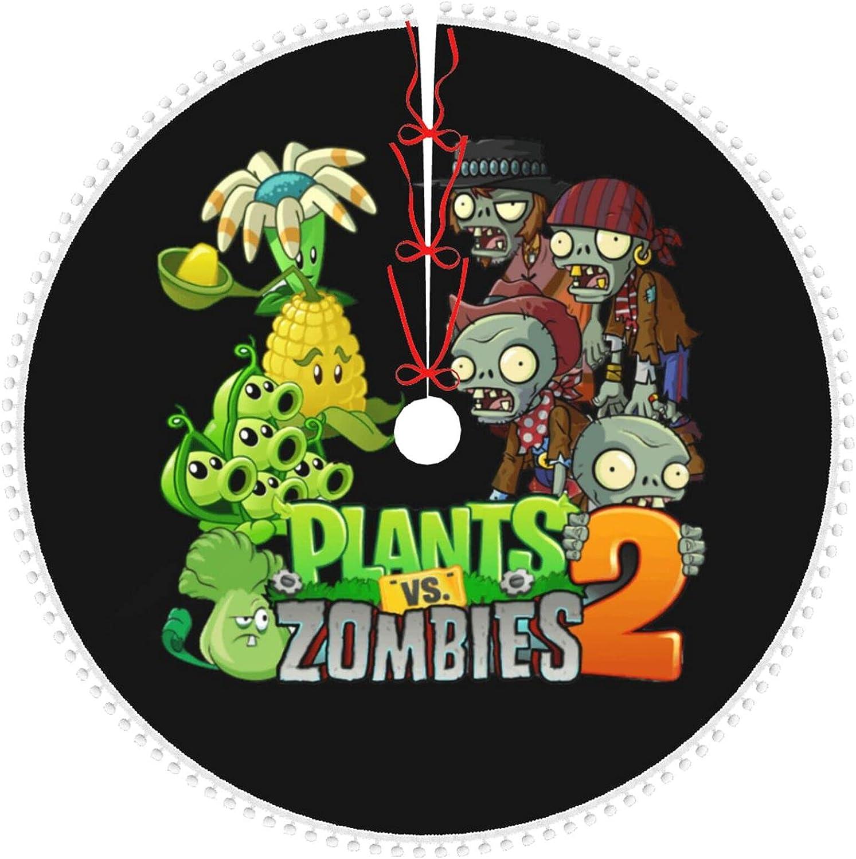 Plants Vs Zombies New mail order Tree Skirt Halloween Decorations Ani Christmas Popular
