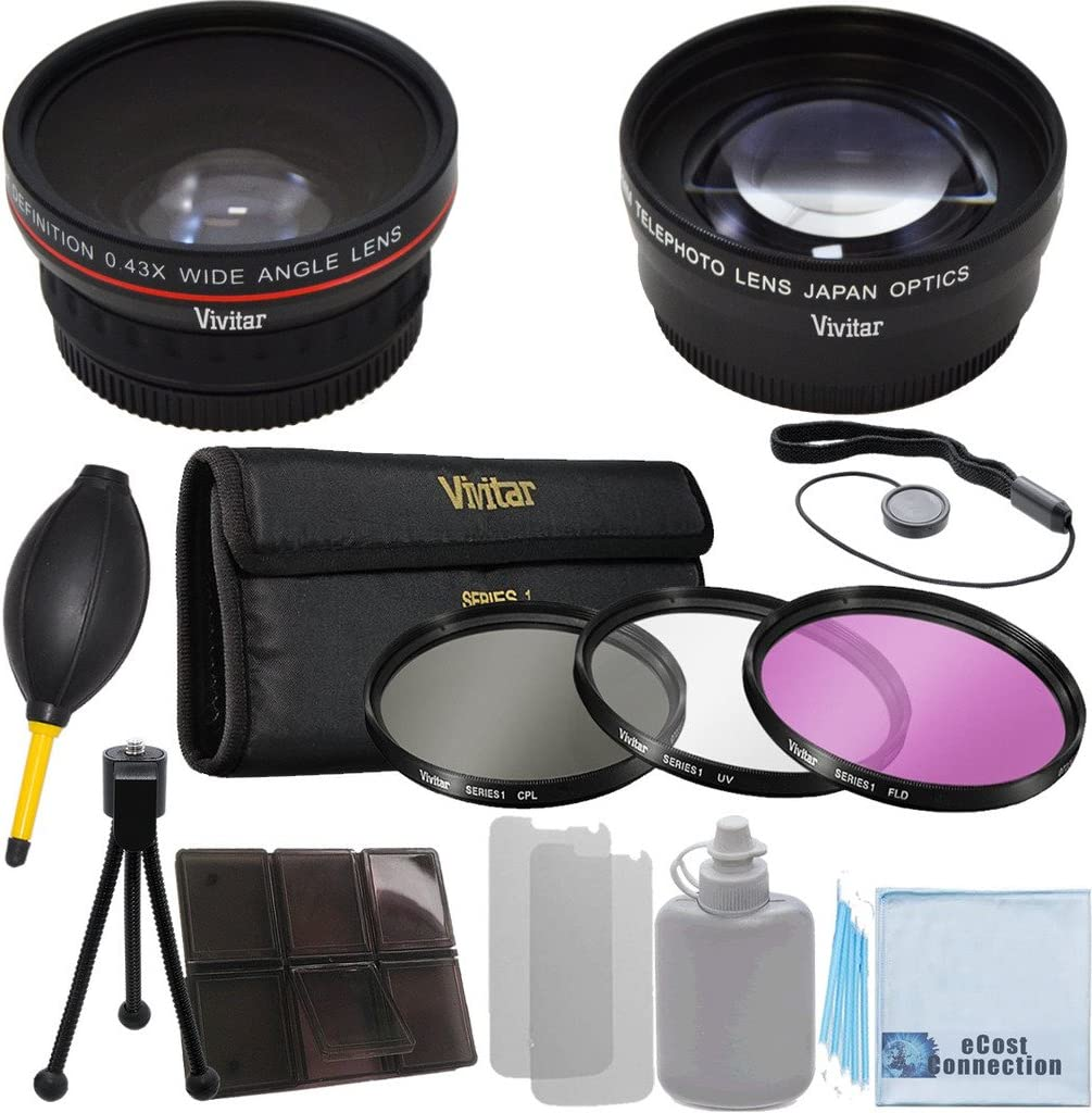 67mm 0.43x Wide OFFicial site Angle Max 72% OFF Lens + Pieces 2.2x 3 Telephoto Filt