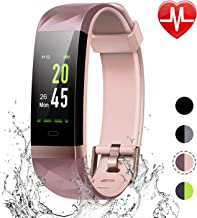LETSCOM Fitness Tracker Color Screen, IP68 Waterproof Activity Tracker with Heart Rate Monitor, Sleep Monitor, Step Counter, Calorie Counter, Smart Pedometer Watch for Men Women Kids