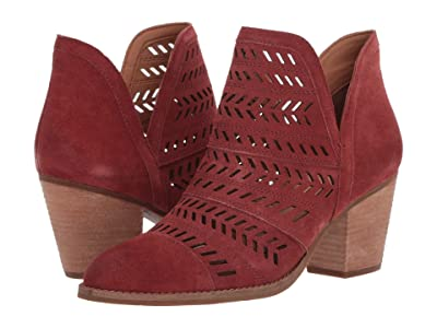 FRYE AND CO. Allister Feather Bootie (Light Burgundy Suede) Women
