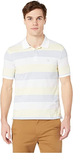 Short Sleeve Engineer Stripe Polo