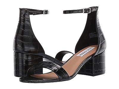 Steve Madden Irenee Sandal (Black Croco) Women