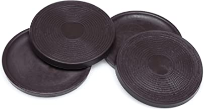 Slipstick CB755 antislip rubberen vloerbeschermers, 75 mm rond met 70 mm voorkomen wegglijden, beschermt oppervlakken