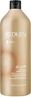 Redken All Soft Shampoo | For Dry/Brittle Hair | Provides Intense Softness and Shine | With Argan Oil