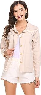 Pasttry Women Classic Bomber Jacket Windbreaker Zipper Quilted Lightweight Coat