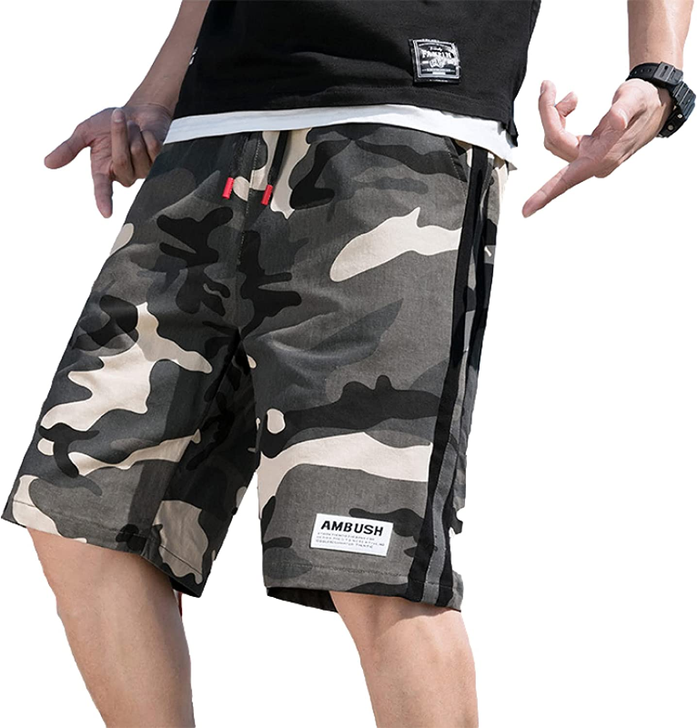 Men's Camouflage Stitching Fashion Shorts Trend All-Match Casual Thin