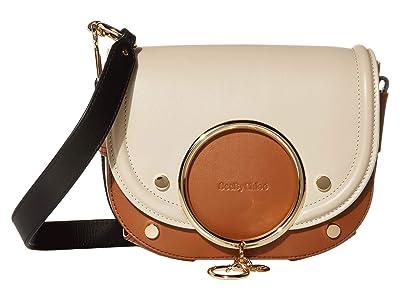 See by Chloe Mara Shoulder Bag (Cement Beige) Handbags