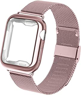 Compatible for Apple Watch Band with Case 38mm 40mm 42mm 44mm,Wristband Replacement Strap for Iwatch for Series 5/4/3/2/1