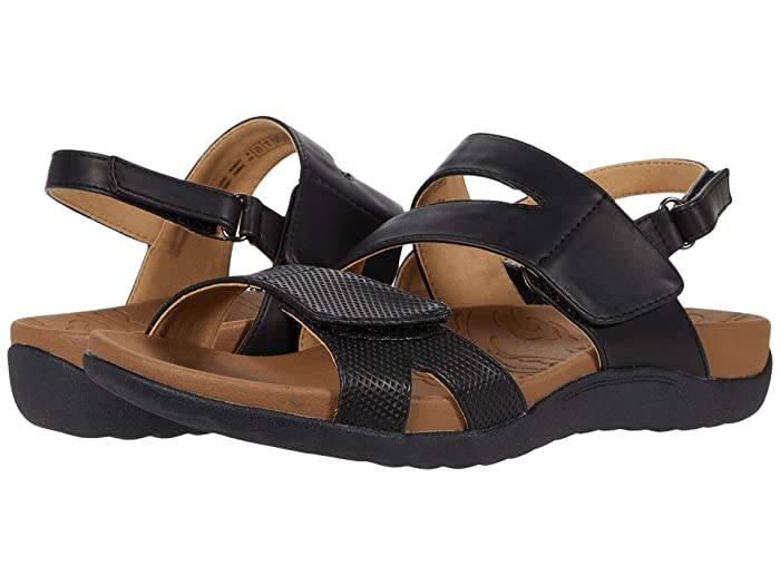 Rockport  Ridge Asymmetrical Strap (Black) Womens Sandals
