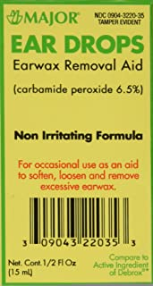 Ear Drops Earwax Removal Aid -- 0.5 fl oz By Major Compare to Debrox