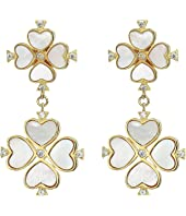 Kate Spade New York - Legacy Logo Spade Flower Drop Studs Earrings