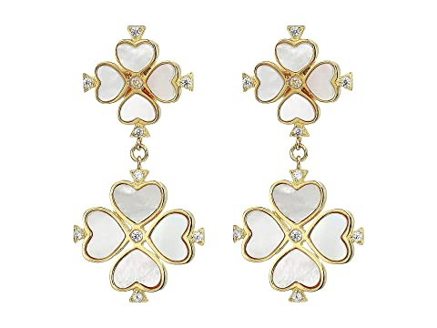 Kate Spade New York Legacy Logo Spade Flower Drop Studs Earrings