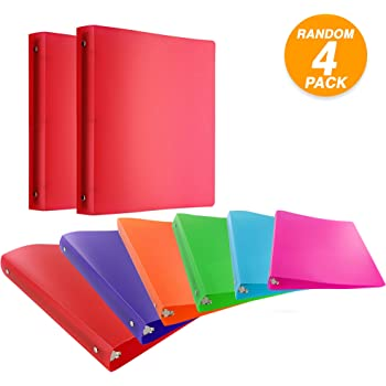 Amazon Com Emraw 1 Inch Poly 3 Ring Glitter Binder With Pocket Storage Hanging File Folders Presentation View Durable Binders For School Home Or Office Clear Folders With Pockets Pack Of 4 Office Products