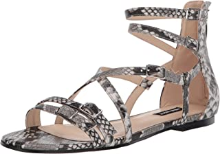 NINE WEST womens Wnlorna3 Flat Sandal, Grey, 9 US