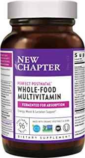 Sponsored Ad - New Chapter Postnatal Vitamins, Lactation Supplement With Fermented Probiotics + Wholefoods + Vitamin D3 + ...