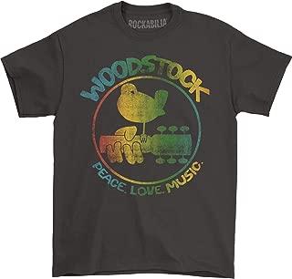 Woodstock Men's Colorful Logo Slim Fit T-Shirt Coal