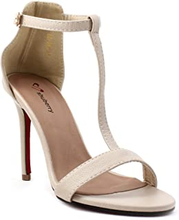 Shuberry Latest Collection, Comfortable & Fashionable Beige Faux Leather Fashion Sandals for Women's & Girl's (SB-294)