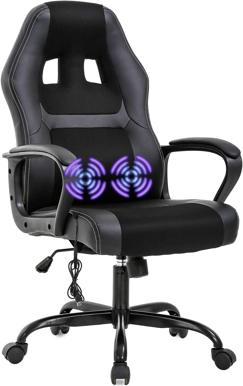 PC Gaming Chair Massage Adjust Max 76% OFF Ergonomic Office Cash special price Desk